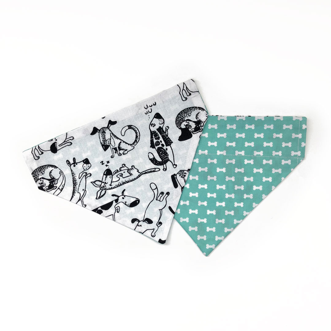 dog bandana with bones