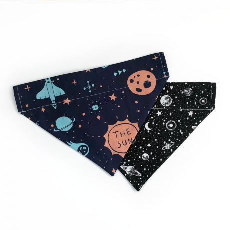 galaxies dog bandana