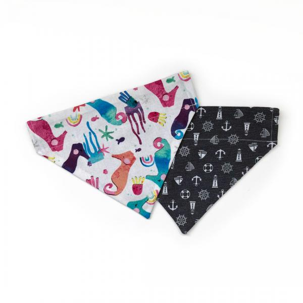 dog bandana with nautical theme