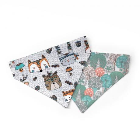 dog bandana with cute forest animals