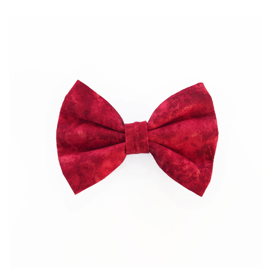 Blossom red dog bow tie