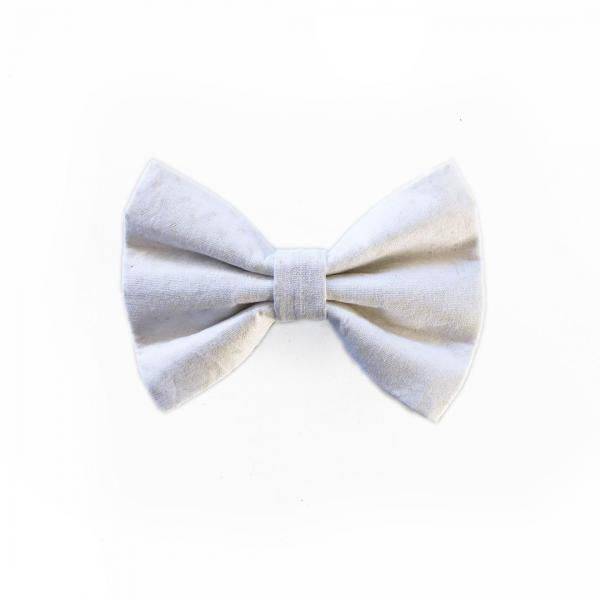 White dog bow tie