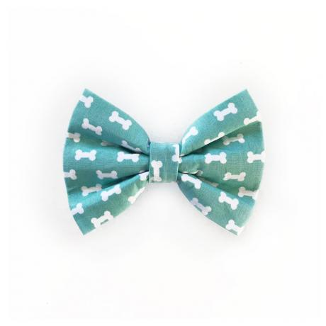 Dog bow tie with dog bones