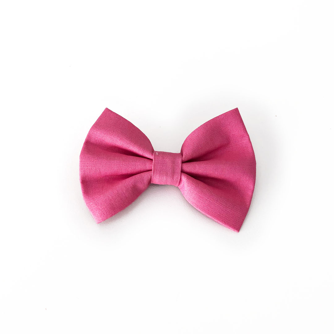 sweet pink dog bow tie