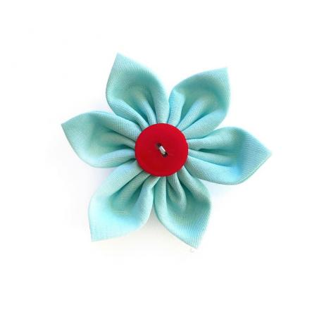 Blue Flower Bow for dogs