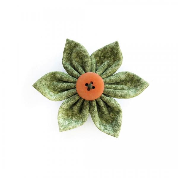 Floral Green Flower Bow for dogs