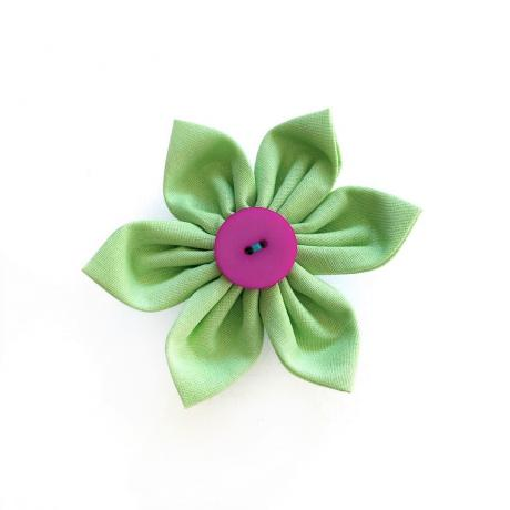 Green Flower Bow for dogs