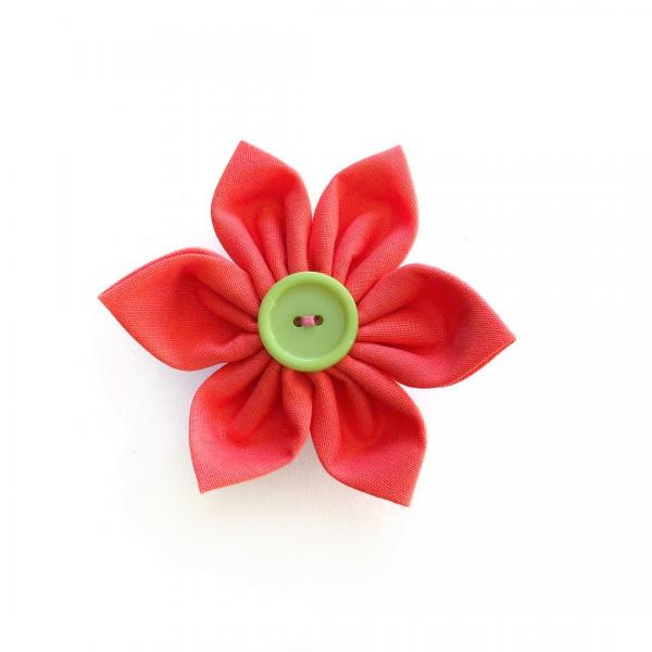 Peach Flower Bow for dogs