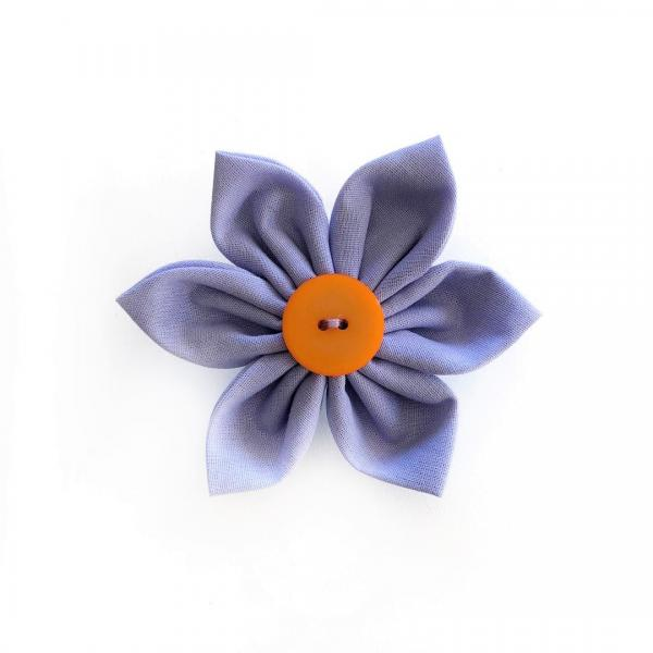 Purple Flower Bow for dogs