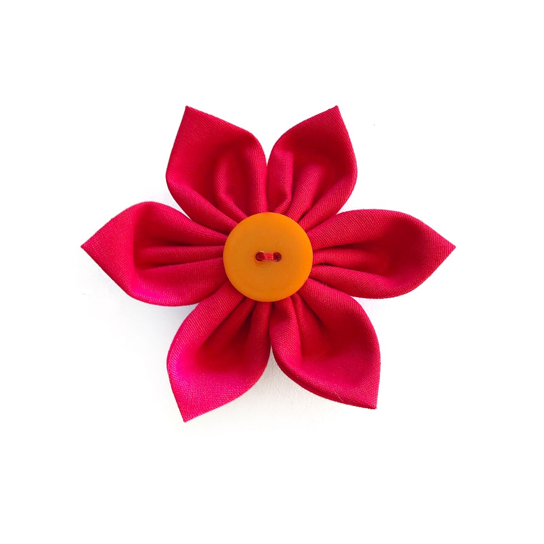 Red Flower Bow for dogs
