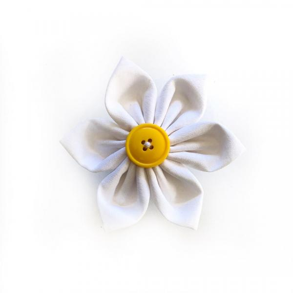 White Flower Bow for dogs