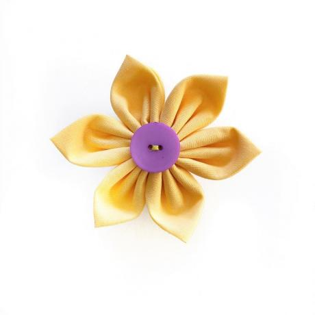 Yellow Flower Bow for dogs