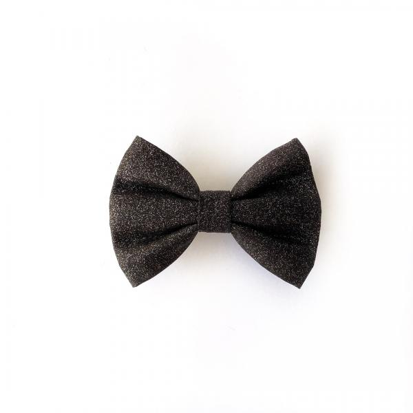 Black Glitter dog bow tie