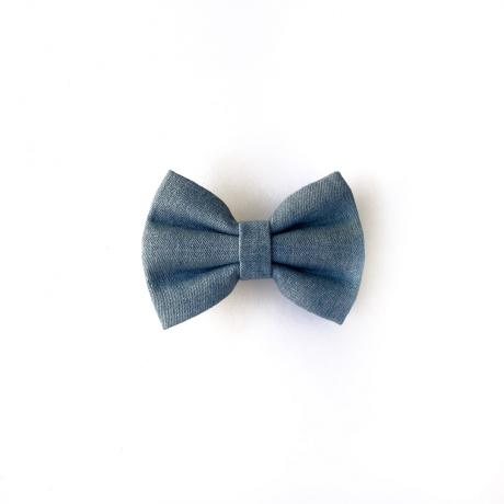 Blue Denim dog bow tie