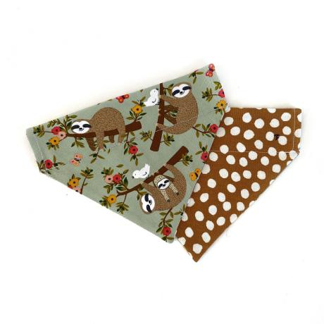 Happy Sloths + Vintage Polka Bandana