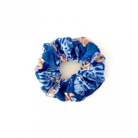 Blue Palms Scrunchie