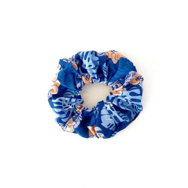 Blue Palms Scrunchie