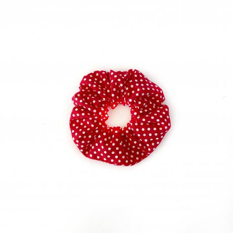 Red Polka Scrunchie