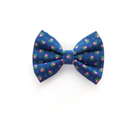 Blue Rose Bow Tie